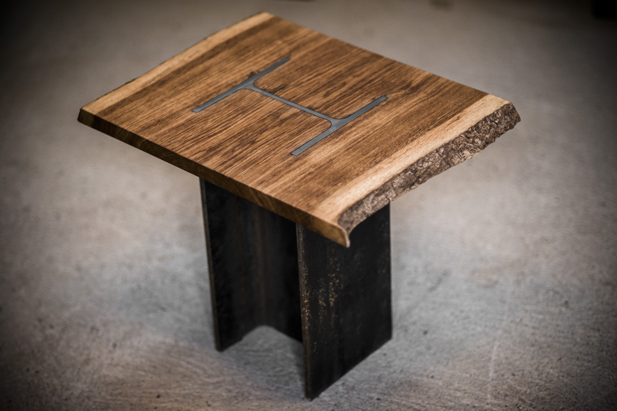 H column coffee table bespoke handmade furniture from for Table column