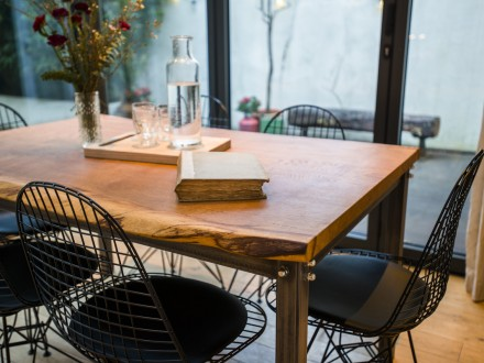 Slab English Oak table